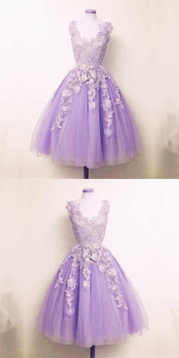 Engrossing Homecoming Dress A-Line, Lace Homecoming Dress, Short Homecoming Dress, Appliques Homecoming Dress #lacehomecomingdresses