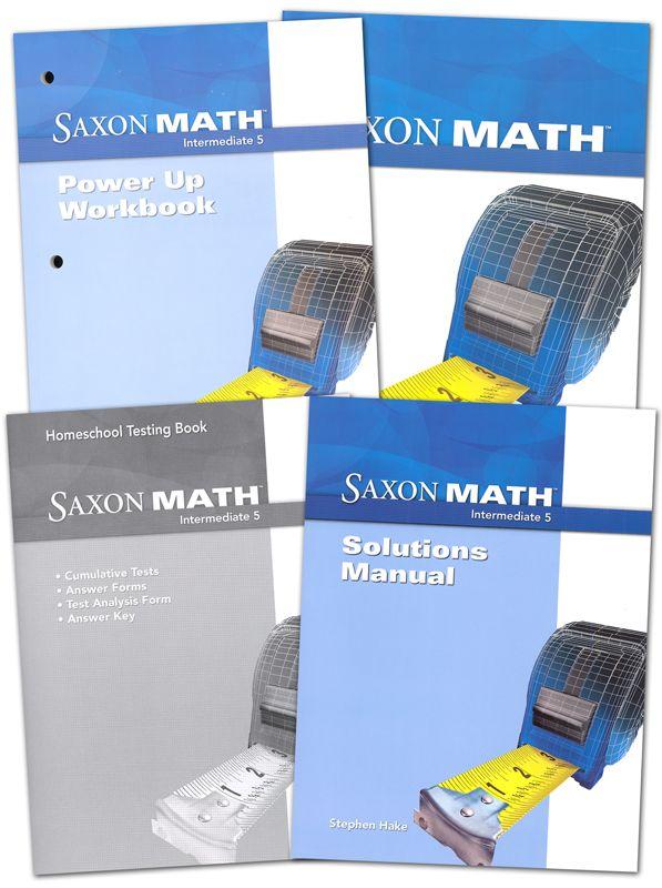 Saxon Math Intermediate 5 Comp Homeschool Kit Main Photo Cover Saxon Math Math Homeschool Testing