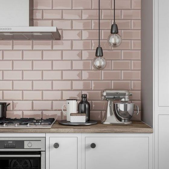 Best Metro Blush Pink 100X200 In 2020 Pink Kitchen Walls 400 x 300