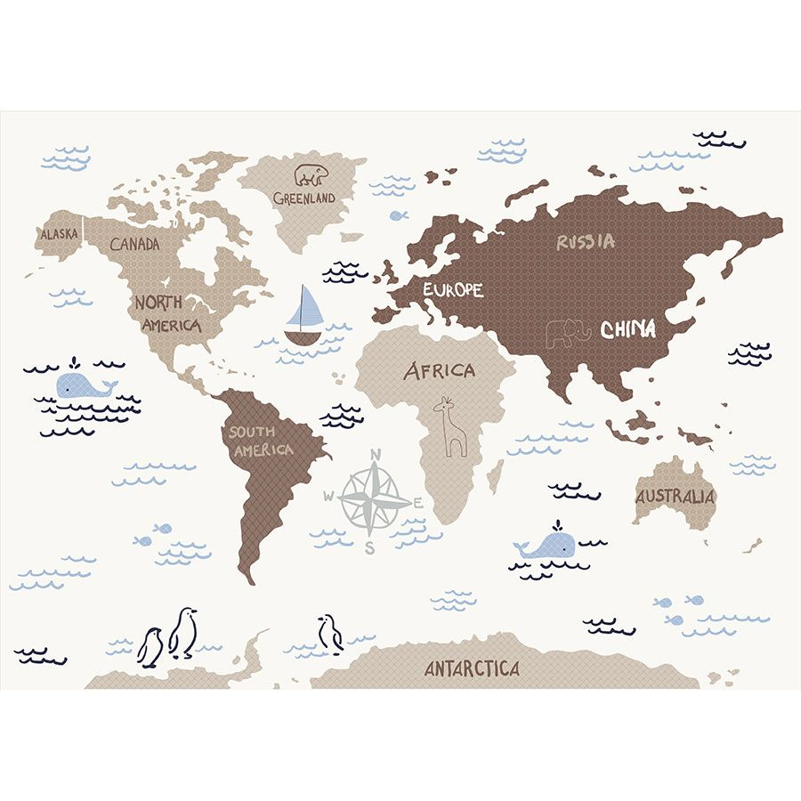 Sadie Scout Extra Large World Map Wall Decal Cambridge Towel Babies R Us