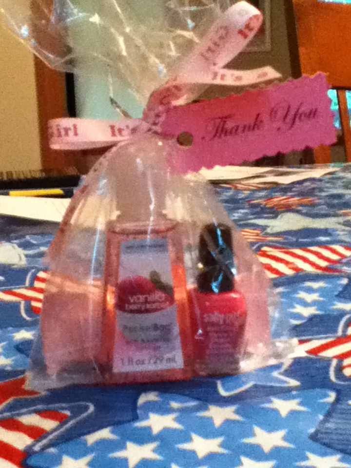 Sherrie S Baby Shower Favor Contains Hand Sanitizer Mini Nail