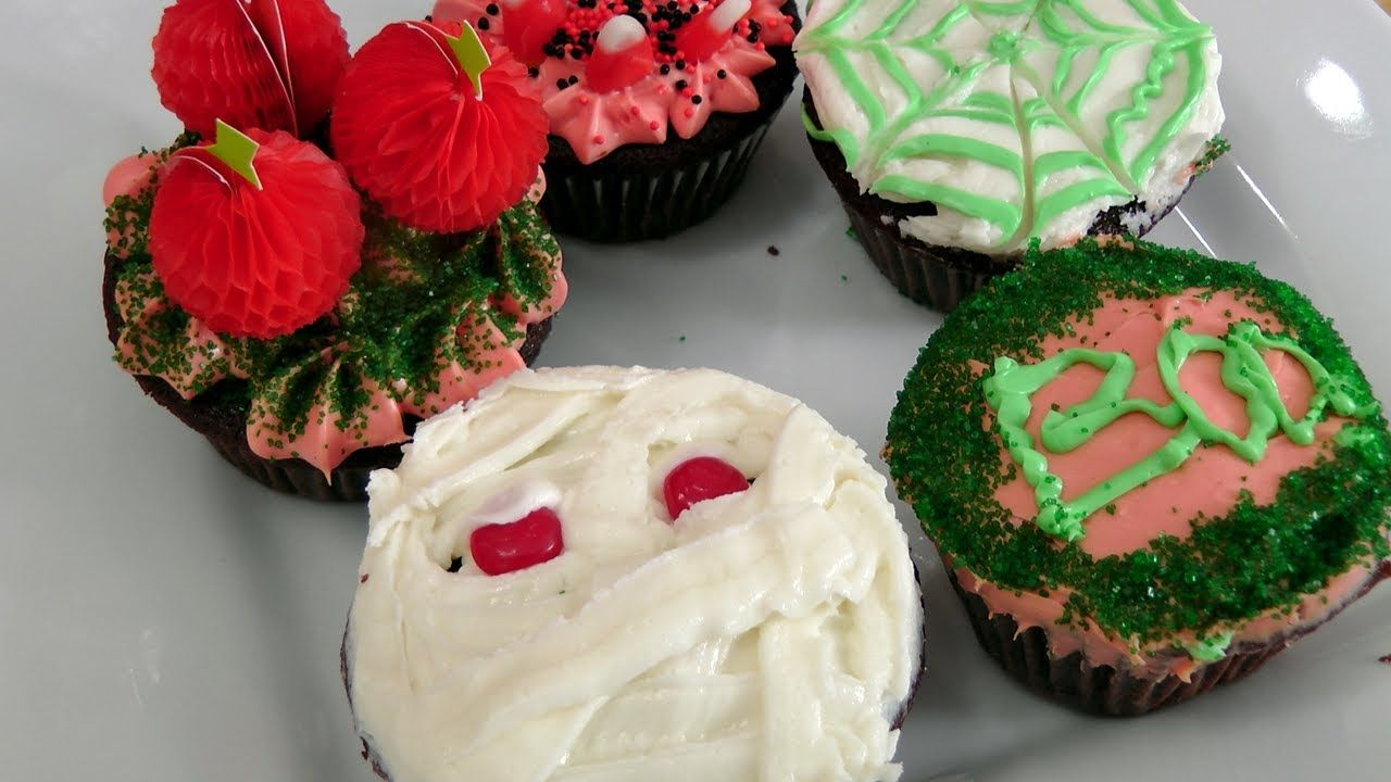 Simple Halloween Cupcake Decoration Ideas - Laura Vitale - Laura in - Halloween Cake Decorating Ideas