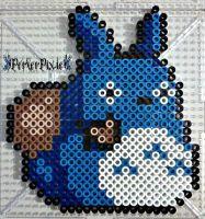Studio GhibliBlue Totoro by PerlerPixie