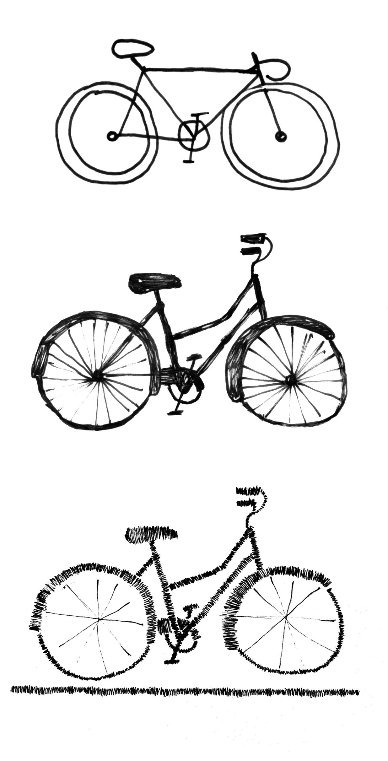 Bicycle Sketches Bicycle Sketch Bicycle Illustration Bike Sketch