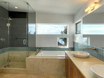 Juanita Residence  Contemporary  Bathroom  Seattle  Verge Extraordinary Bathroom Design Seattle Review