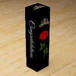 Wine Gift Box-Pageant Crown Congratulations Wine Box   Zazzle.com