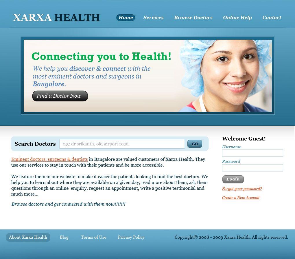 Health care portal home page design Health care, Dentist