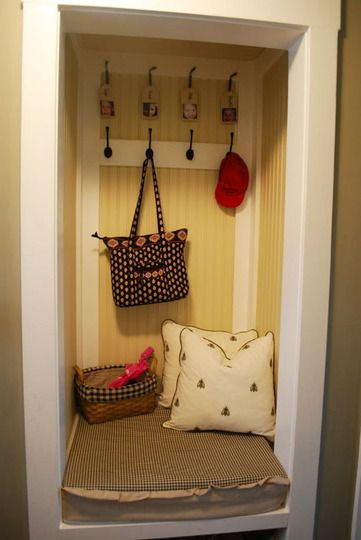 closets turned into other things, like nursery, reading nook, mudroom area.