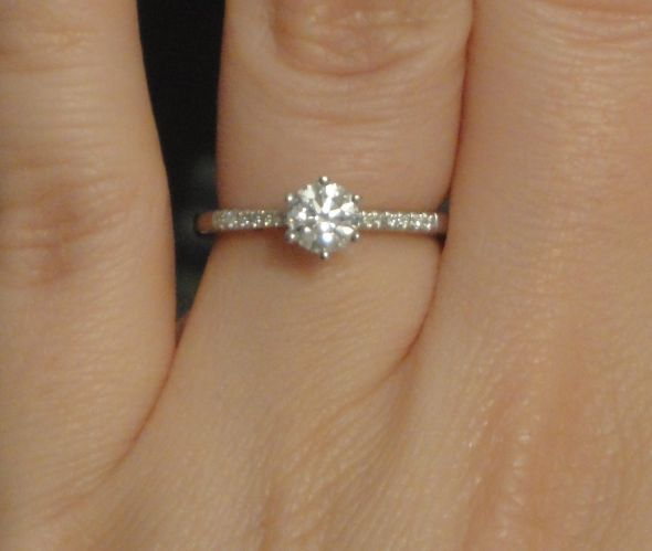 Half Carat Too Small For 6 Prongs Weddingbee Pretty Rings 5 Carat Ring Round Diamond Ring