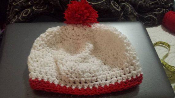 Pompom hat by crochetstein on etsy