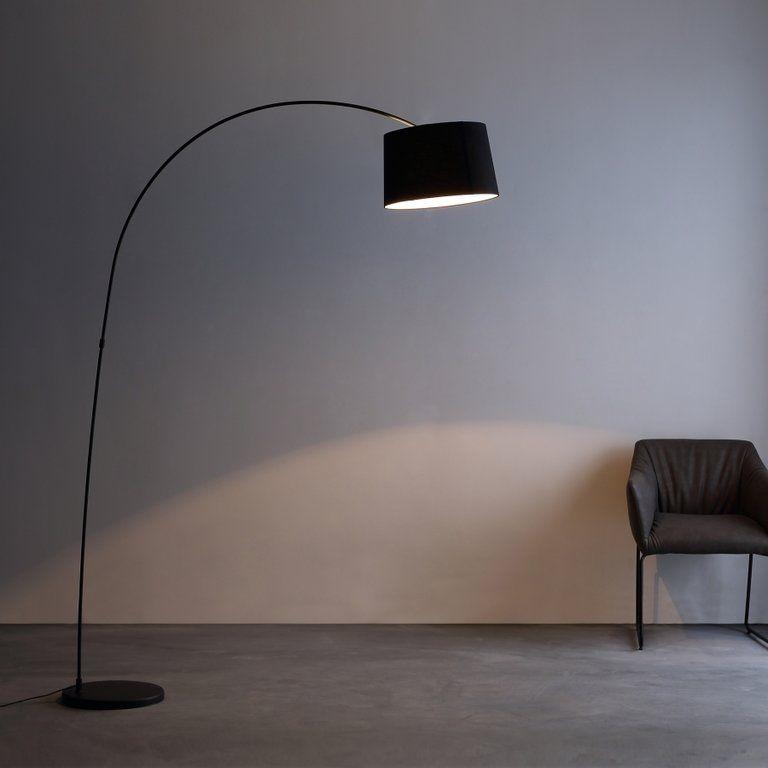 Wonderful Schlafzimmer Lampe Stoff 2 #6: Designer Bogenleuchte Stockholm II