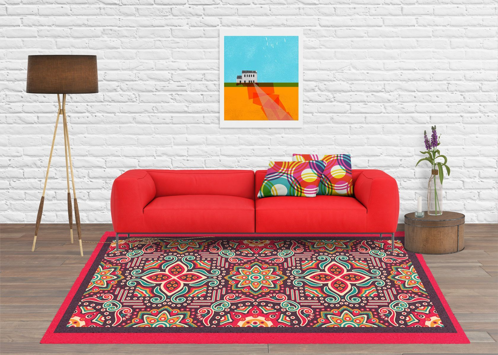 Mexican rug - 5x8 rugs - modern rug - contemporary rugs
