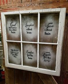 Vintage Window decals - God didn't promise inspirational quote decals for DIYers