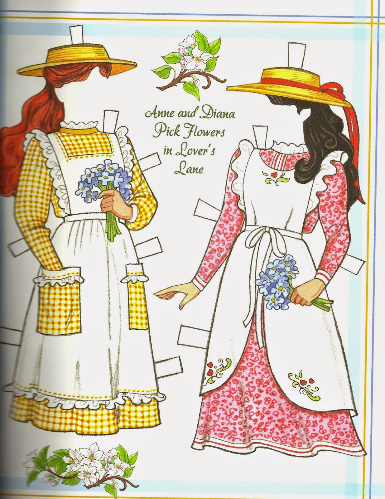 The paper collector anne of green gables paper doll by for Anne of green gables crafts