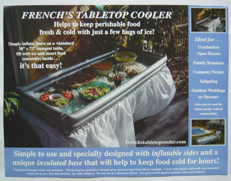 Tabletop Cooler Consider Using A Children S Swimming Pool Instead In Case It Is Er Perfect For Beach Themed Grad Party
