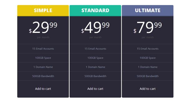 Stylish Menu For CSS Sprites Everything is adjustable in this psd - pricing sheet template