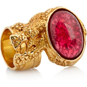 I'm dying for one of these arty oval rings from YSL!!