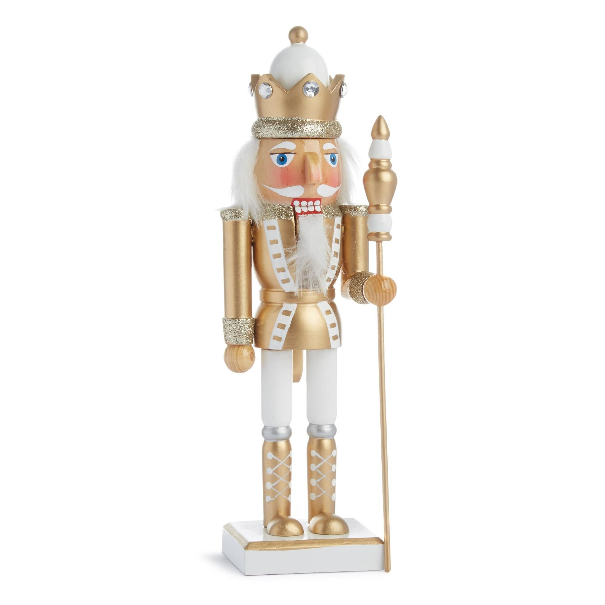 Medium Gold Nutcracker Decoration | Seasonal | Homeware ...