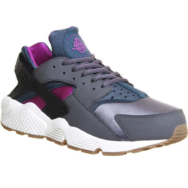 Nike Air Huarache ($135) ❤ liked on Polyvore featuring shoes, dark grey teal