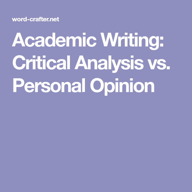 academic writing analysis
