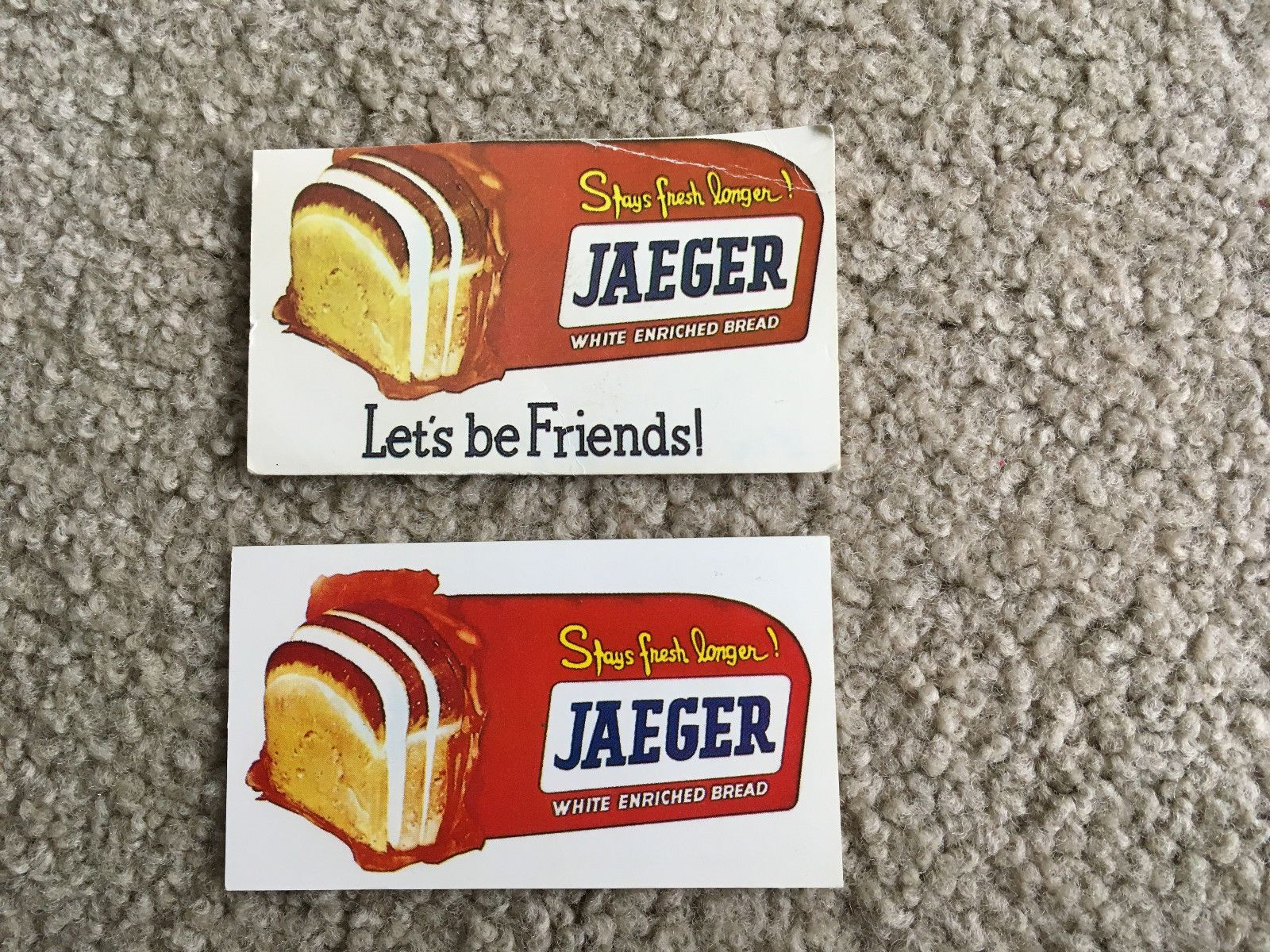 2 jaeger bread #bakery company #milwaukee wi business calling cards ...