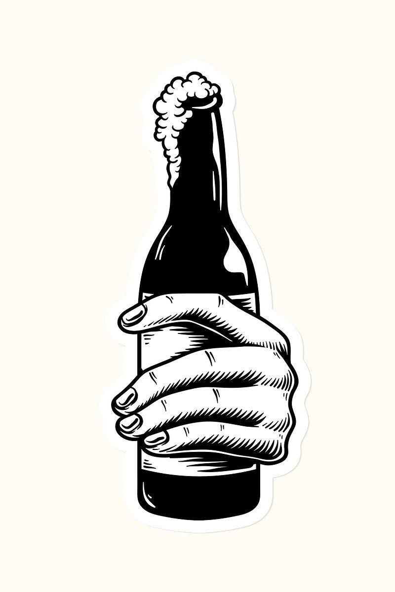 Download Download premium vector of Hand holding a beer bottle ...