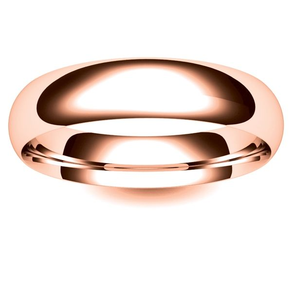 18ct Rose Gold Wedding Ring Medium Traditional Court 5mm Wedding