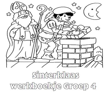 Kleurplaten Sinterklaas Groep 4.Sinterklaas Werkboekje Groep 4 Kim