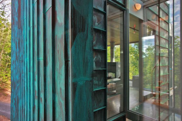 A Copper House: Bruneel Residence by Travis Price Architects (DC area).  I love copper.  Always.