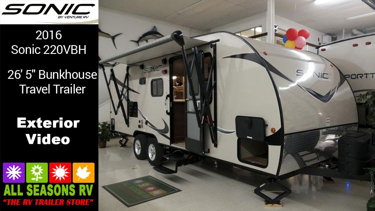 All Seasons Rv >> Sonic 220vbh Light Weight Camping Trailer With Bunks At All