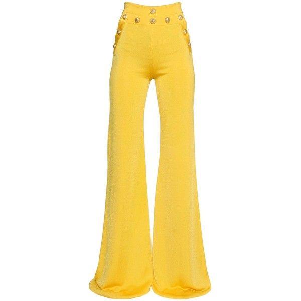 Calças Boca de Sino Amarelas