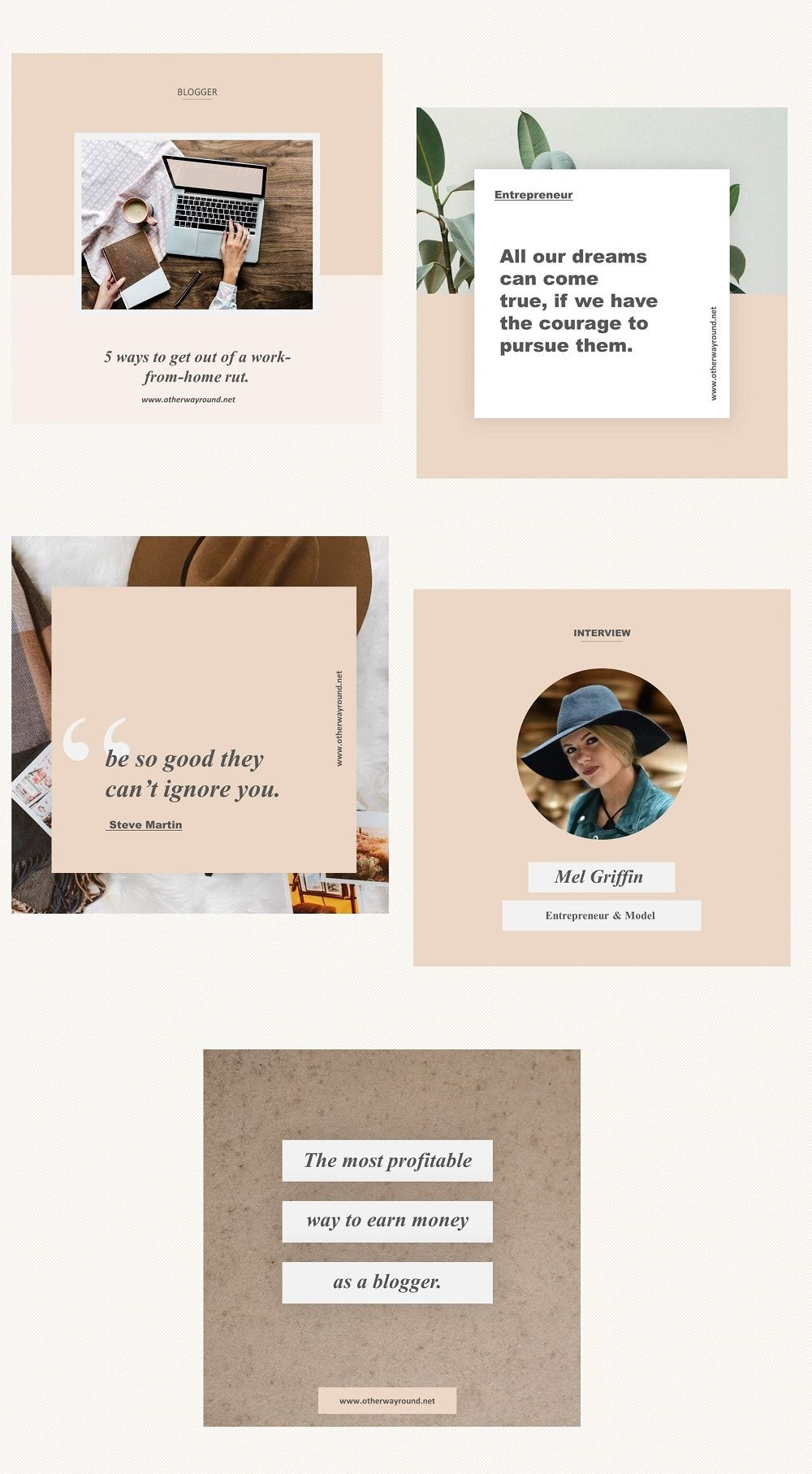 Stylish Instagram Feed Templates Otherwayround In 2020 Instagram Template Instagram Template Free Instagram Post Template