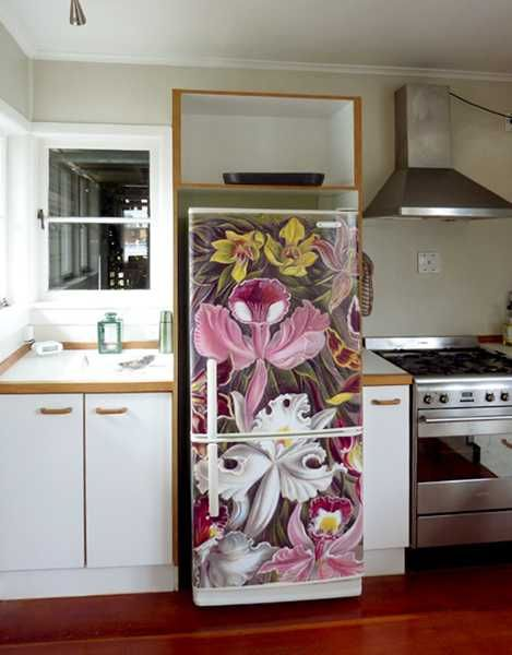 coloring kitchen decor with vinyl stickers for home appliances