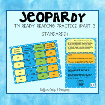 Journeys 2nd Lesson 29 Jeopardy Review PPT For Two Of