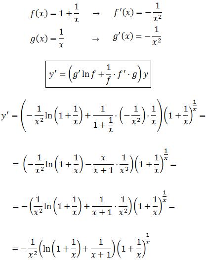 Aplicamos La Fórmula Para Calcular La Derivada De La Función Exponencial Y 1 1 X 1 X Regla De La Cadena Ejercicios Resueltos Calculo Diferencial