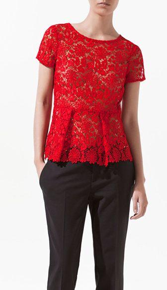 Western high waist lace shirt 785,lovely shirt