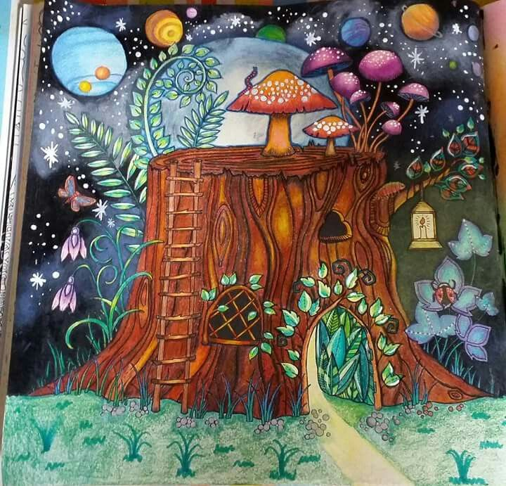 - Stump Enchanted Forest Enchanted Forest Coloring, Enchanted Forest  Coloring Book, Johanna Basford Enchanted Forest