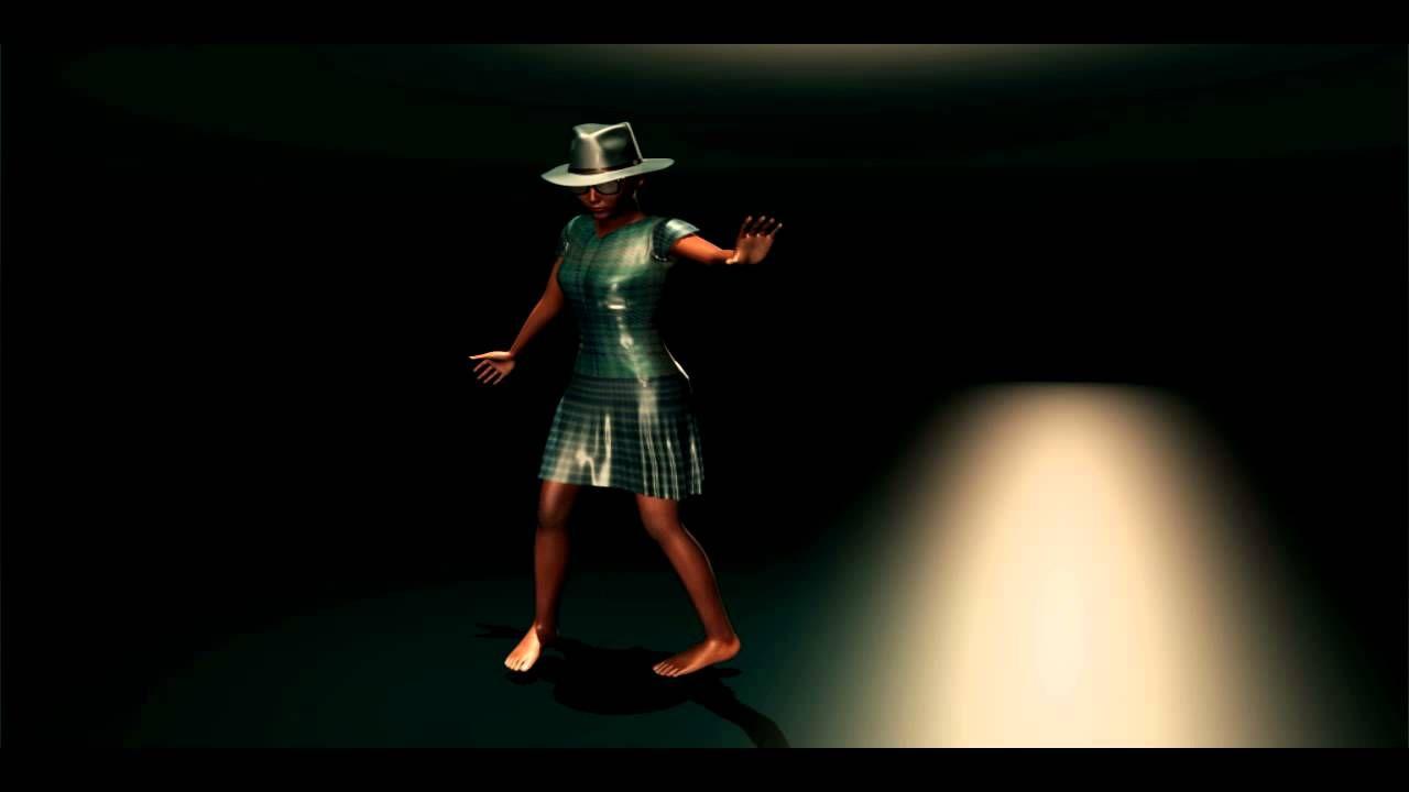 Character modeling dancing girl character modeling