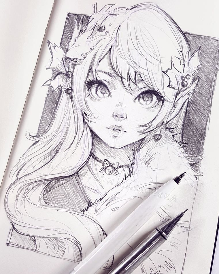 Featured Artist Ladowska Anime Drawings Sketches Anime Sketch Anime Drawings