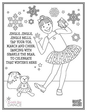 Jingle Bells Holiday Coloring Page From Dancestudioowner Com