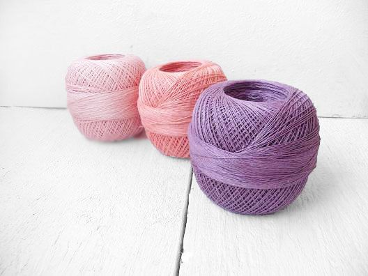 Lace weight Linen yarn Size 10 crochet thread by YarnStories