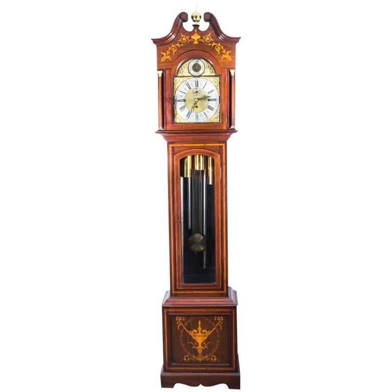 Antique Late Victorian English 5 Tube Musical Longcase Clock 19th Century #englishdresses1880