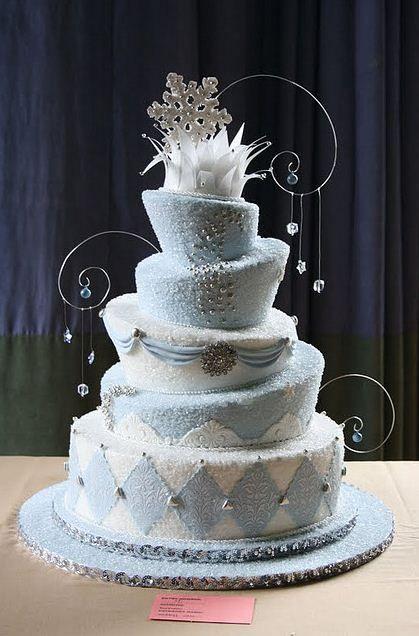 winter wonderland wedding cake Themed wedding cakes Themed