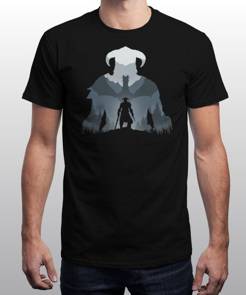 """""""Dragonborn"""" is today's £9/€11/$12 tee for 24 hours only on Pin this for a… 