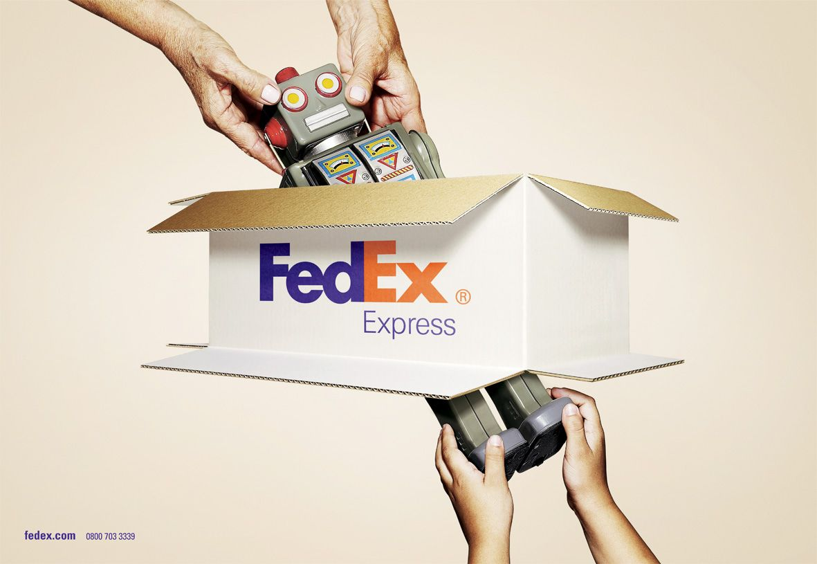 Fedex Express The Box Advertising Campaign Ads Creative Funny Commercial Ads Advertising