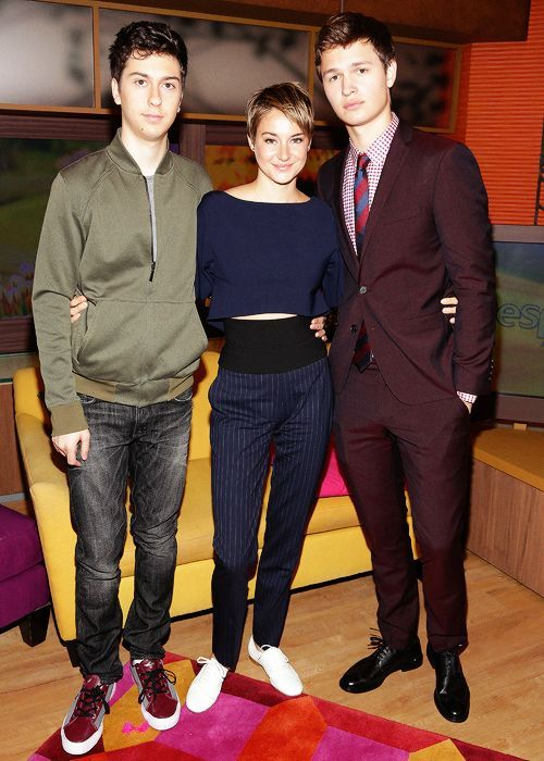 #Tfios  Nat, Shailene and Ansel