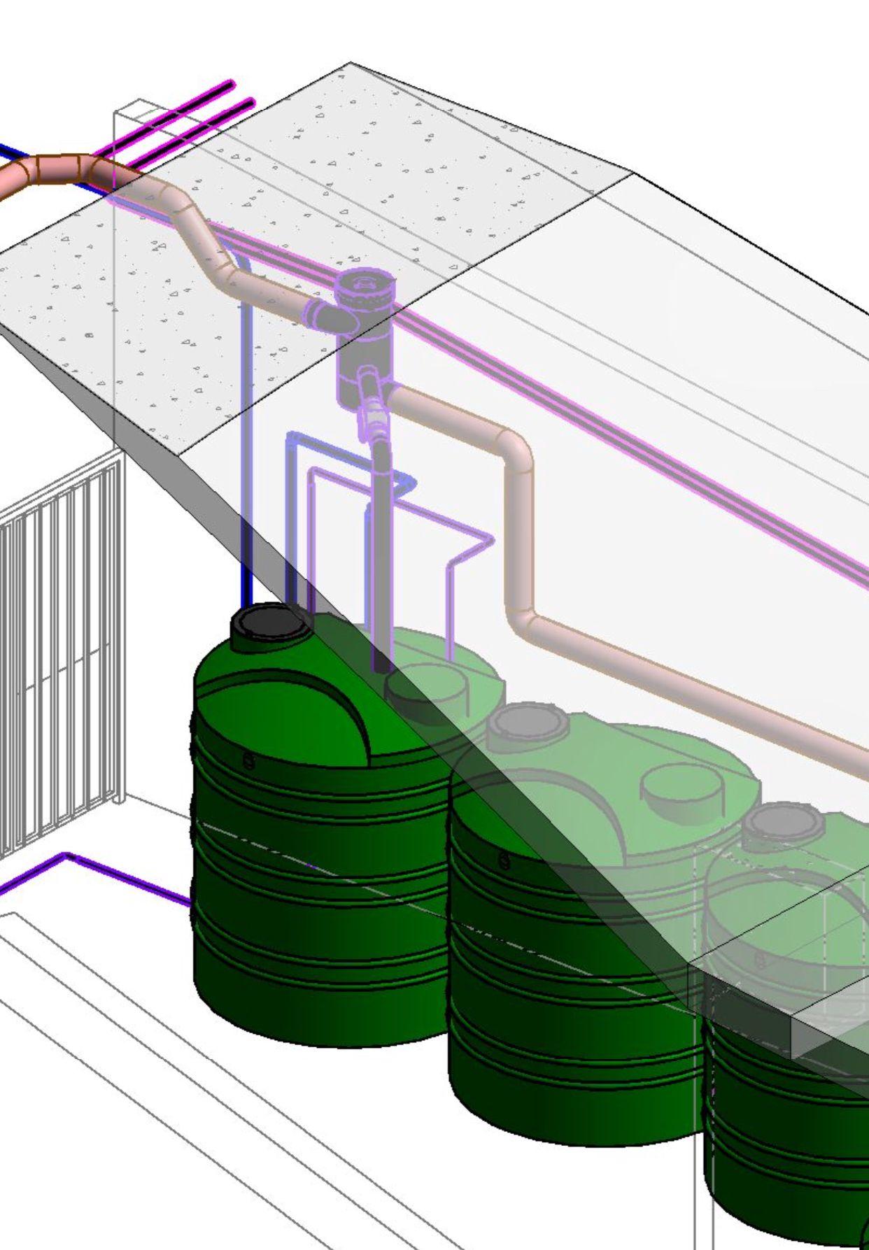 Rainwater harvesting system installations