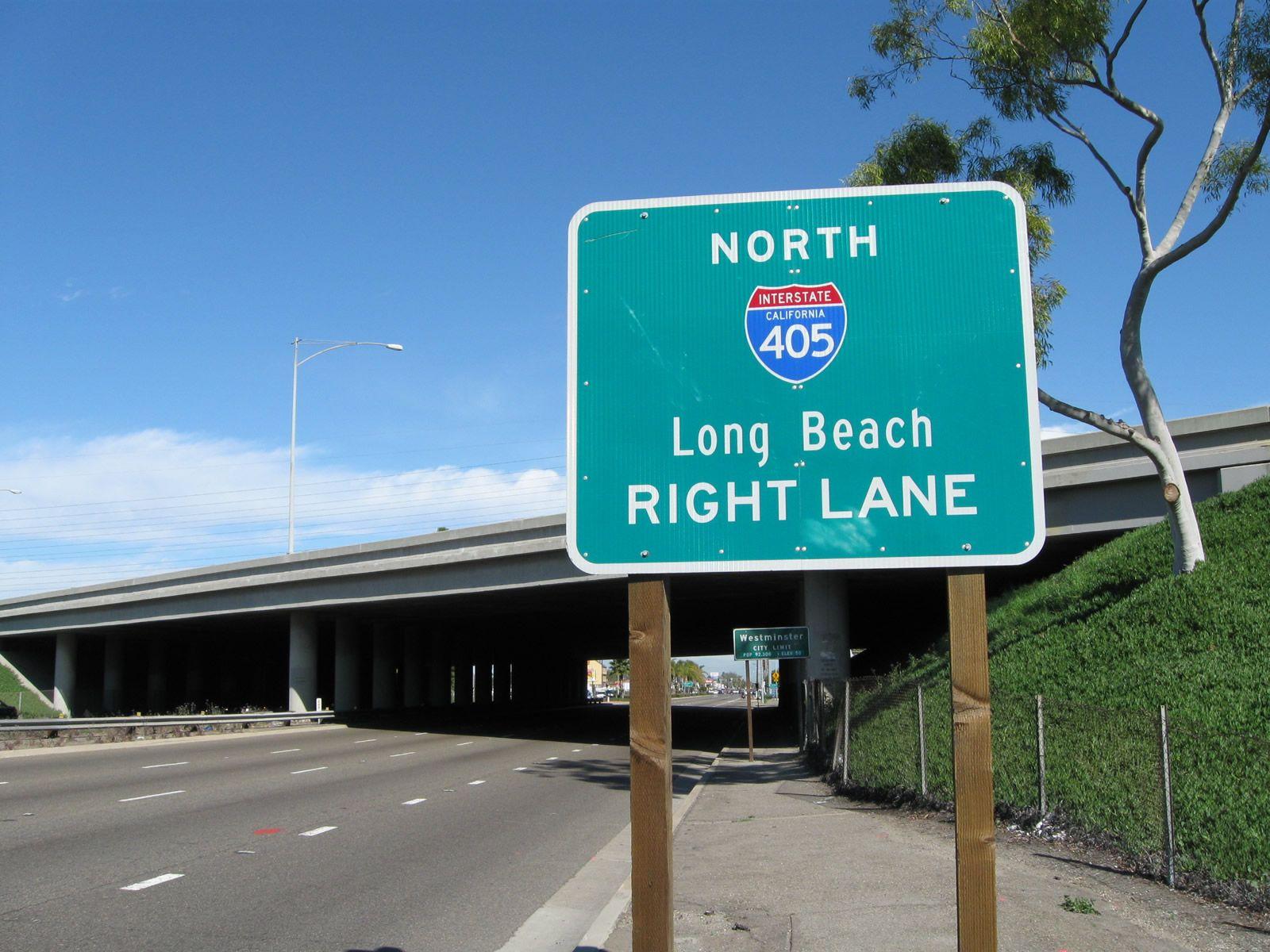 Beach Boulevard North With Interstate 405 Sango Freeway North West