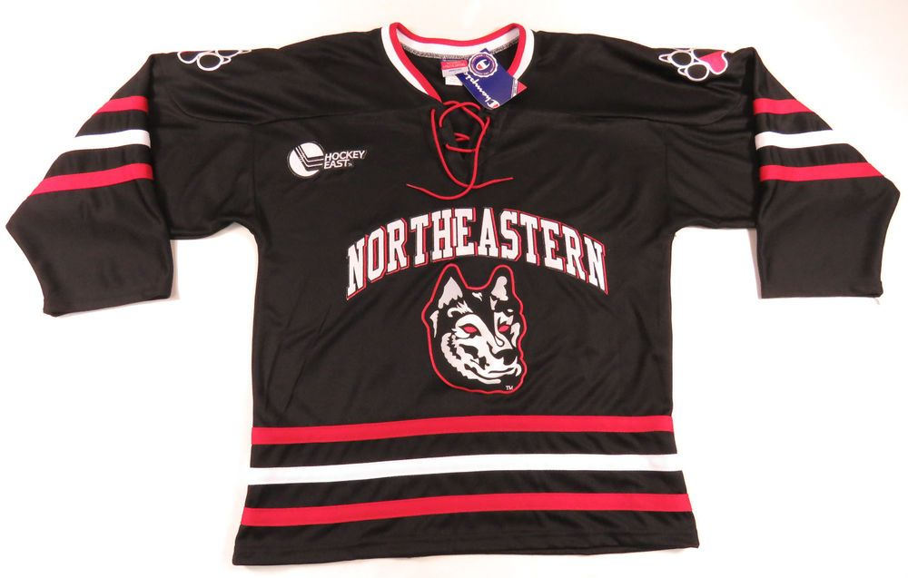 reputable site da4ce 5abc9 NORTHEASTERN HUSKIES CHAMPION AUTHENTIC HOCKEY JERSEY NCAA ...