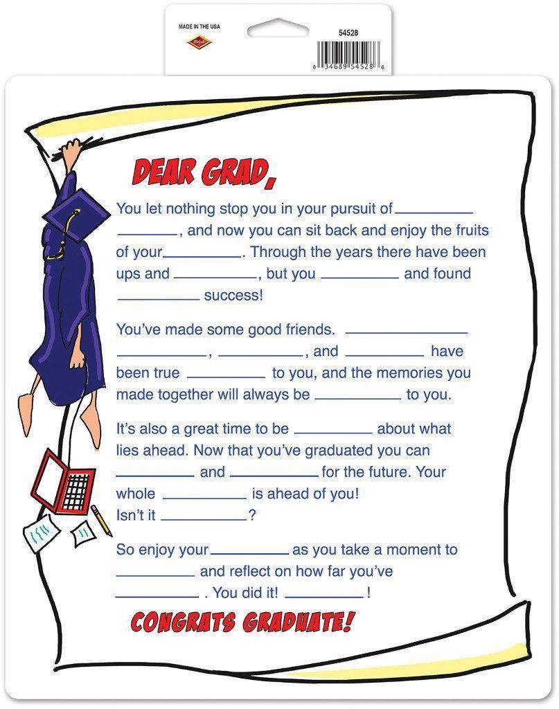 Dear Grad Partygraph - 24 Units